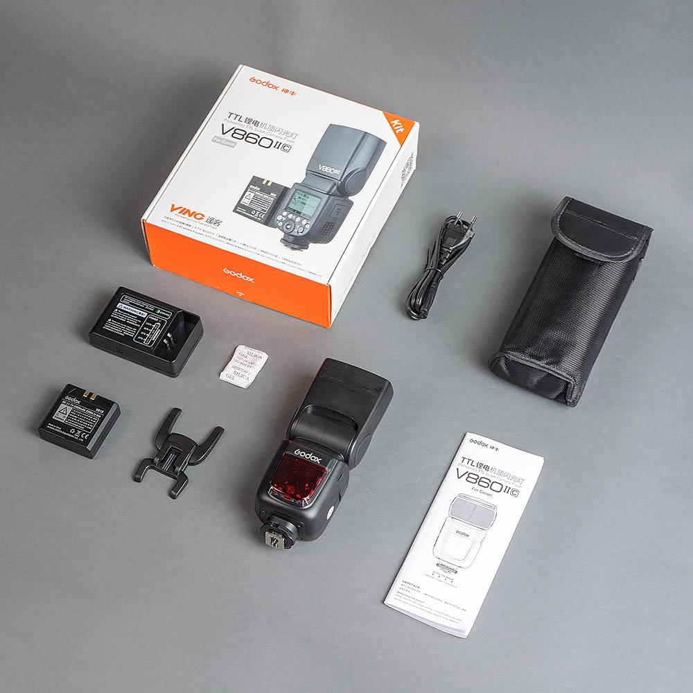 Блиц обзор-распаковка накамерной вспышки Godox Ving V860II Canon